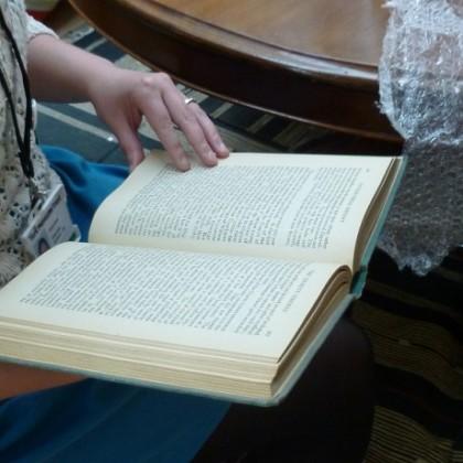 Book held open