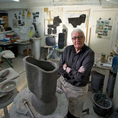 Gordon Baldwin in his studio. Photographer: Phil Sayer