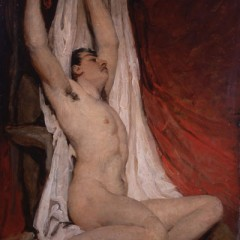 Male Nude Arms Upstretched 1828, from the York Art Gallery collection.
