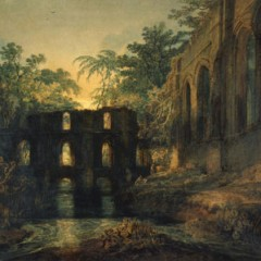 The Dormitory and Transept of Fountains Abbey - Evening by Joseph Mallord William Turner, first exhibited 1798