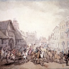 York City during the Races by Thomas Rowlandson