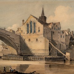 Old Ouse Bridge and St. William's Chapel by John Varley