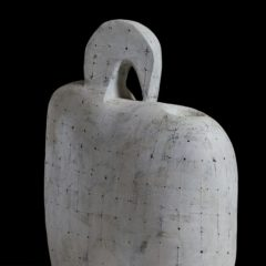 Abstract white ceramic sculpture