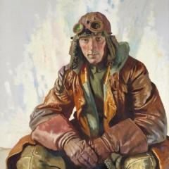 © IWM (Art.IWM ART 2397) The NCO Pilot, RFC. (Flight Sergeant W G Bennett), by William Orpen 1917