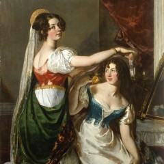 William Etty, Preparing for a Fancy Dress Ball (Charlotte and Mary Williams-Wynn), 1833, YORAG : 2009.6