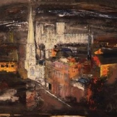 Painting entitled View from Clifford's Tower by John Piper, 1951