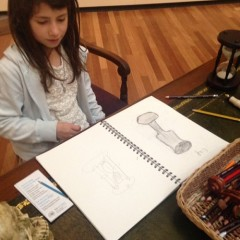Build a still life on our vanitas table to draw