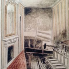 Painting of room interior