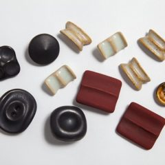 Collection of brightly coloured ceramic buttons